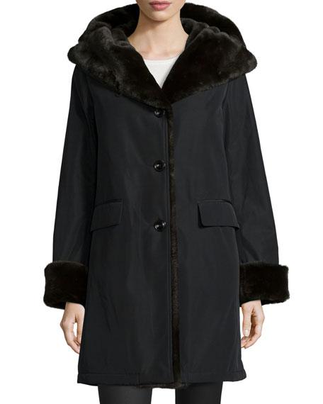 Jane Post Faux-Fur-Lined Coat