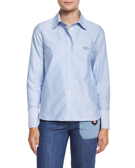 See by Chloe Oxford Button-Down Shirt, Blue