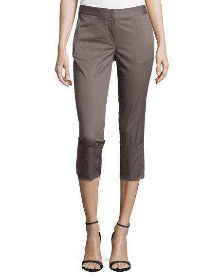 Kaufman Franco Skinny-Leg Wide-Cuff Pants, Dark Lead