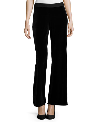 Velvet Wide-Leg Pants, Women's