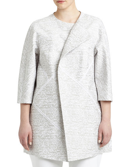 Lafayette 148 New York Anissa 3/4-Sleeve Topper Jacket,