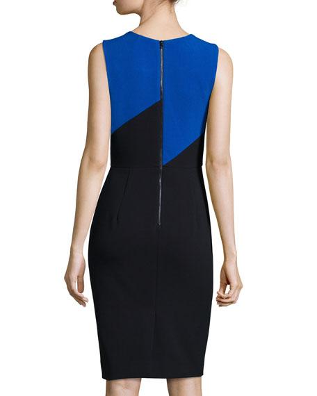 Daphne Colorblock Sheath Dress