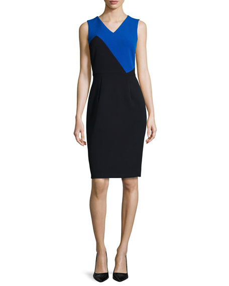 Milly Daphne Colorblock Sheath Dress