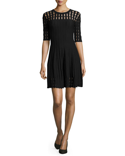 Couture Tech Flare Dress W/ Cutouts