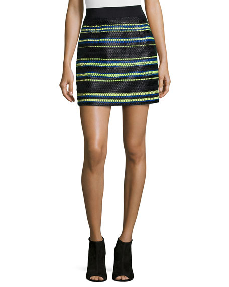 Milly Couture Stripes Mini Skirt