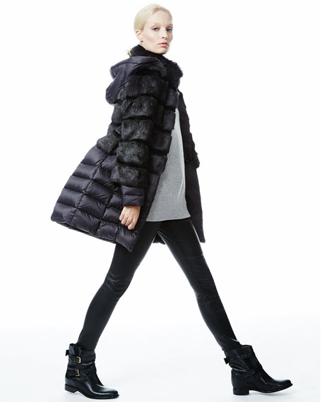 Taryn 2-in-1 Fox Fur Puffer Coat