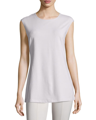 Perfect Layer Sleeveless Top, Silver Cloud