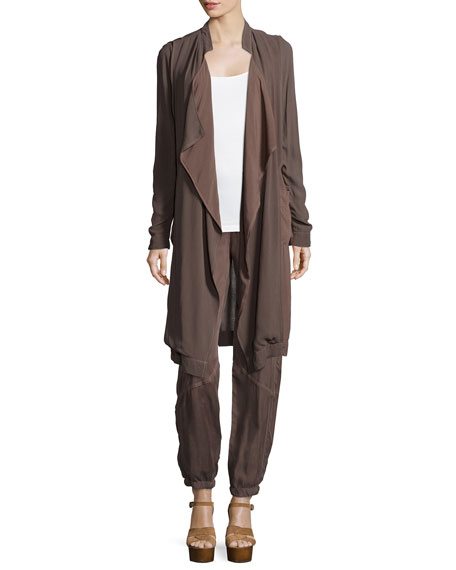 XCVI Veranda Combo Draped Jacket, Woodsmoke
