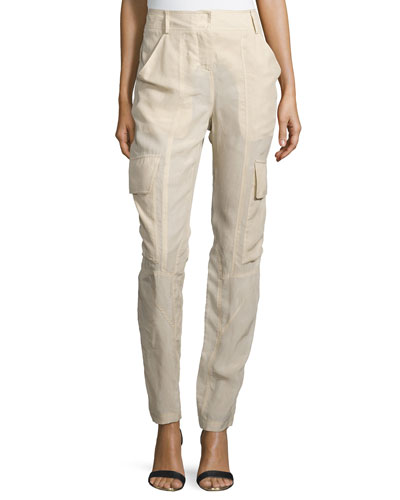 Slim-Fit Parachute Pants, Desert
