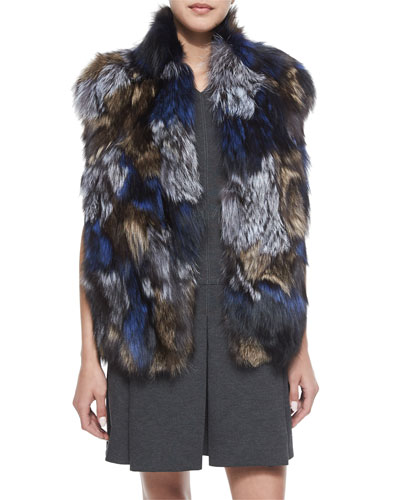 Patchwork Fox Fur Vest
