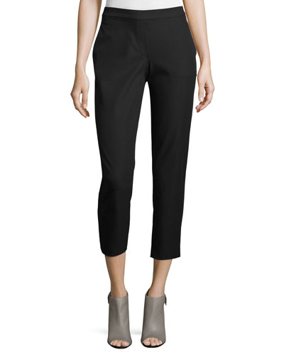 Theory Thaniel Approach Cropped Slim Pants, Black