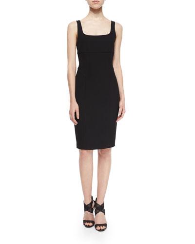 Myla Sleeveless Ponte Dress, Black
