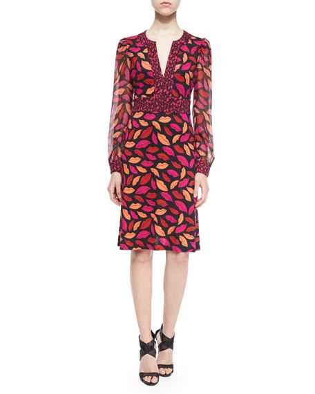 Diane von Furstenberg Leyah Midnight Kiss Silk Dress,