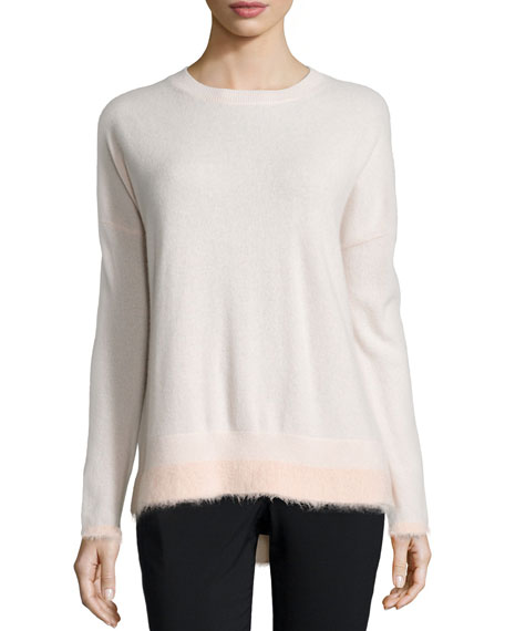 Derek Lam 10 Crosby Boxy Long-Sleeve Sweater, Ballet