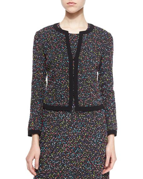 Diane von Furstenberg Emery Splatter-Print Tweed Jacket,