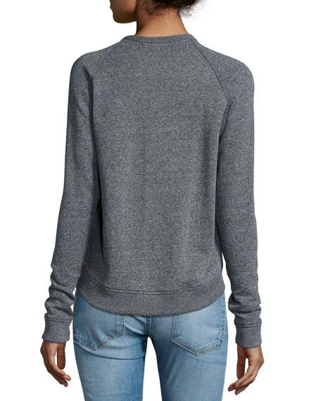 Long-Sleeve Graffiti Sweatshirt, Dark Heather Gray