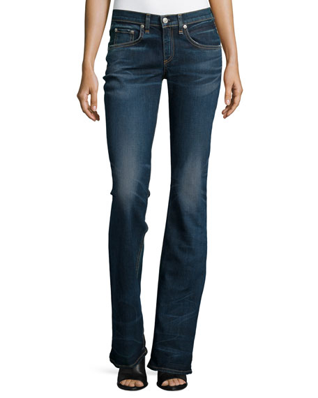 Mid-Rise Boot-Cut Jeans, Bishop