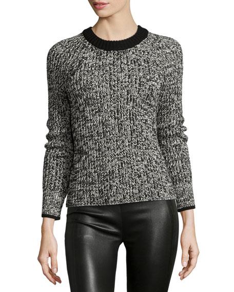 rag & bone/JEAN Karen Crewneck Sweater, Black/White