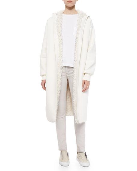 Helmut Lang Reversible Faux-Fur-Lined Long Coat