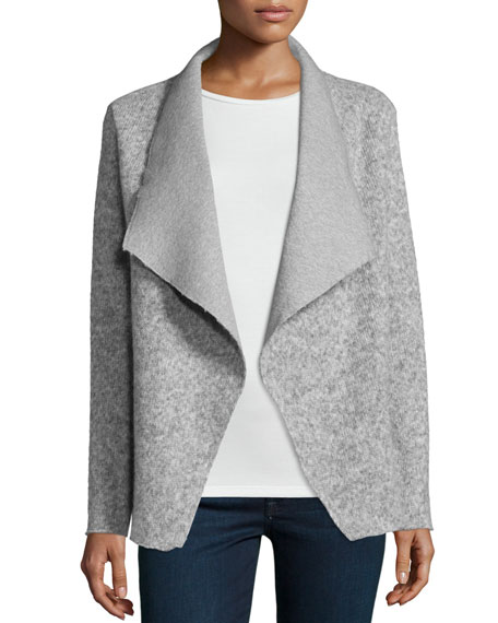Majestic Paris for Neiman Marcus Alpaca-Blend Lined Cardigan