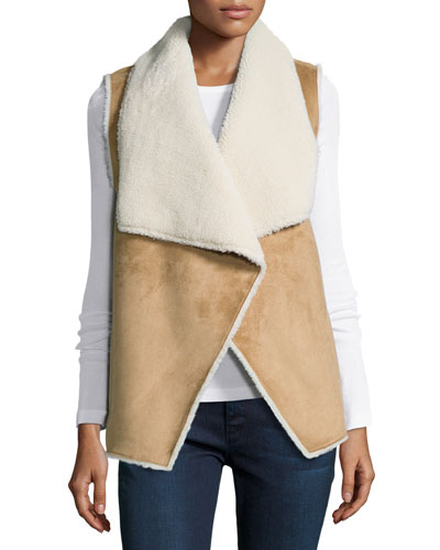 Uli Vest W/Faux-Fur Lining, Camel