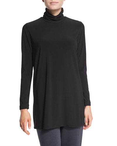 Long-Sleeve Knit Turtleneck
