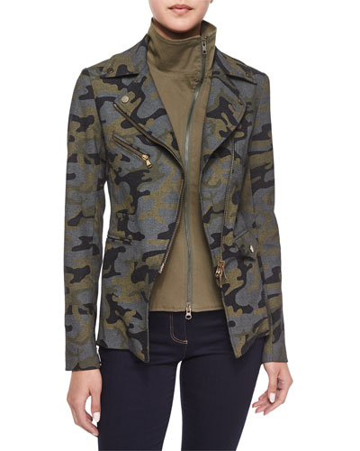 Hadley Camouflage Jacket with Moto Dickey
