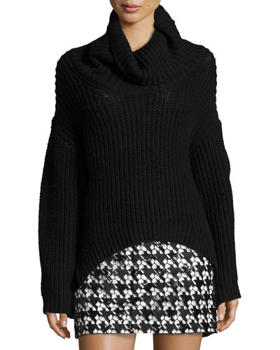 Jordy Turtleneck Sweater, Black