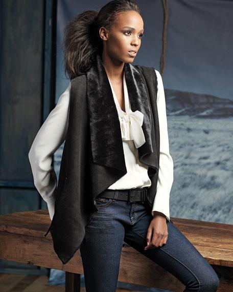 Double-Sided Sherpa Fur Vest