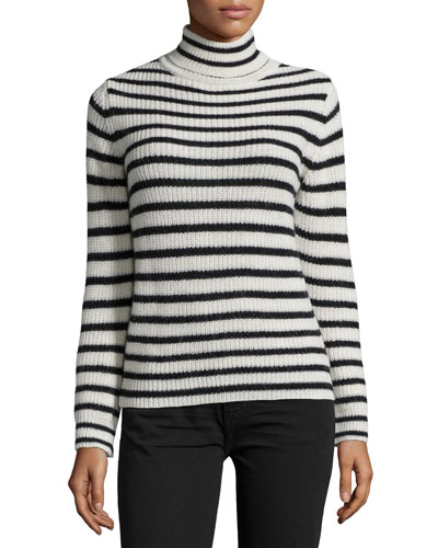 Seely Striped Sweater, Ecru/Black