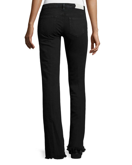 Iro Freddy Flare Denim Jeans, Black Stone