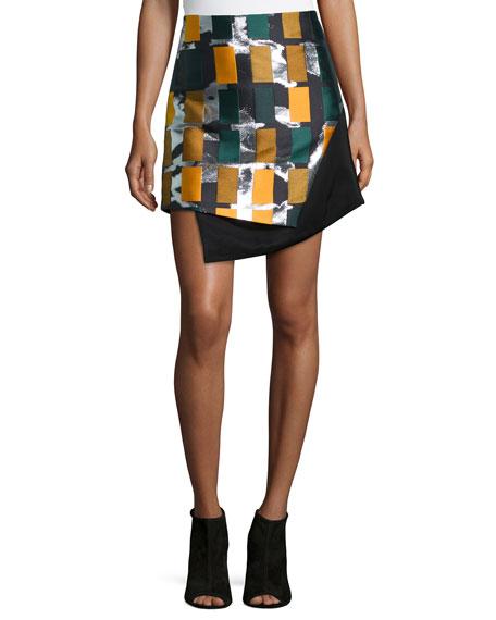 Opening Ceremony Color Story Jacquard Skirt, Black Multi