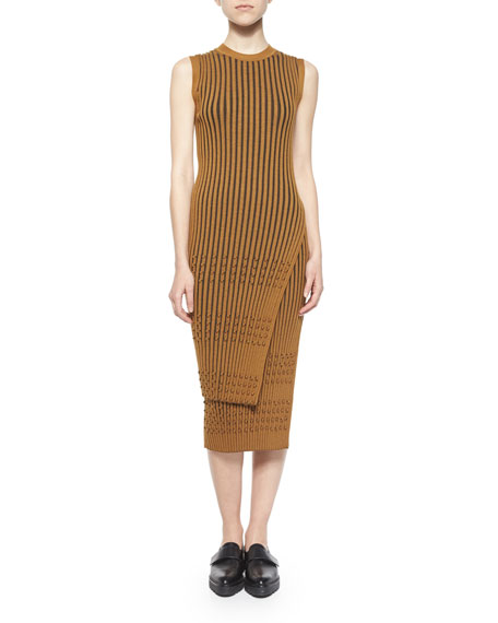 Opening Ceremony Long-Sleeve Ribbed Faux-Wrap Tunic