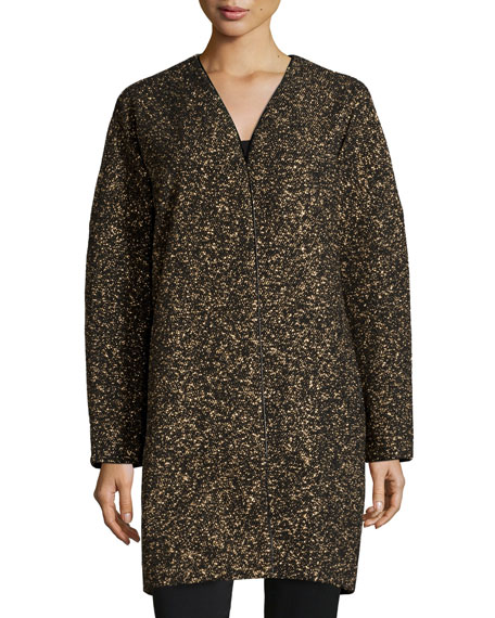 Lafayette 148 New York Lorraine Metallic Long Coat,