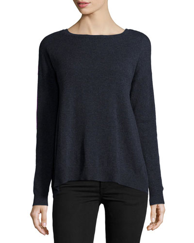 Reversible Colorblock Cashmere Sweater