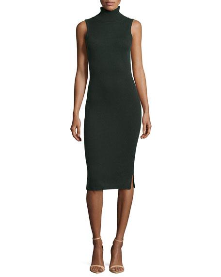 Ginia Cashmere Gowns Wrap Gown: Autumn Cashmere Sleeveless Cashmere Turtleneck Dress