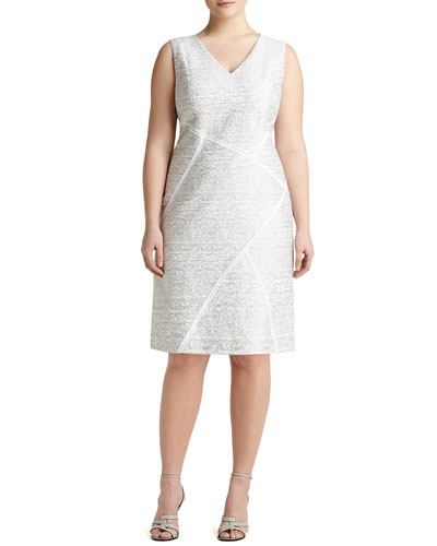 Kiersten Sleeveless Sakura Jacquard Dress, Women