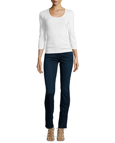Kimmie Straight-Leg Jeans, Slim Illusion Luxe