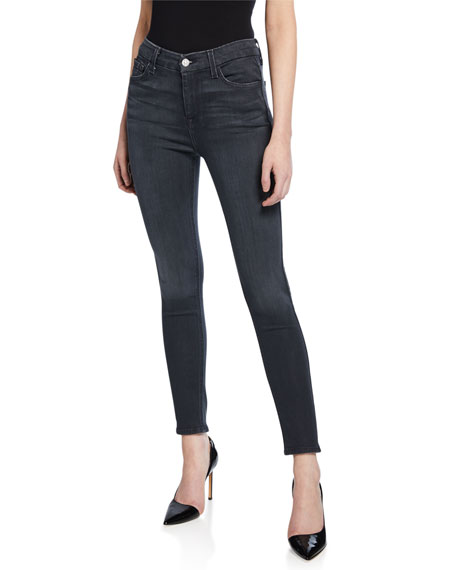 7 For All Mankind High-Waist Ankle Skinny Jeans,
