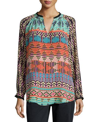 Lynn Printed Silk Tunic
