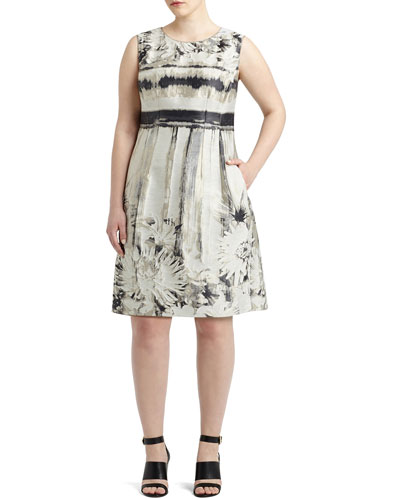 Evelyn Sleeveless Floral-Print A-line Dress, Women