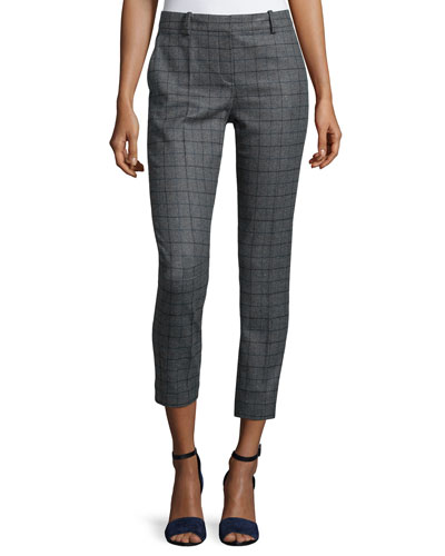 Treeca Slim Cropped Pants, Charcoal
