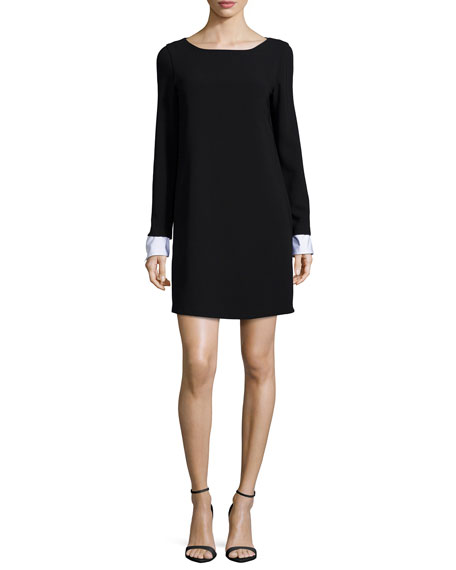 TheoryAmszia Long-Sleeve Dress with Removable Cuffs