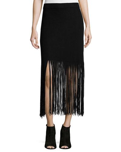 Fringed Up Skirt