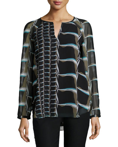 On The Edge Printed Top