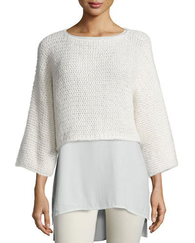 Fisher Project Fluffy Alpaca Cloud Crop Top
