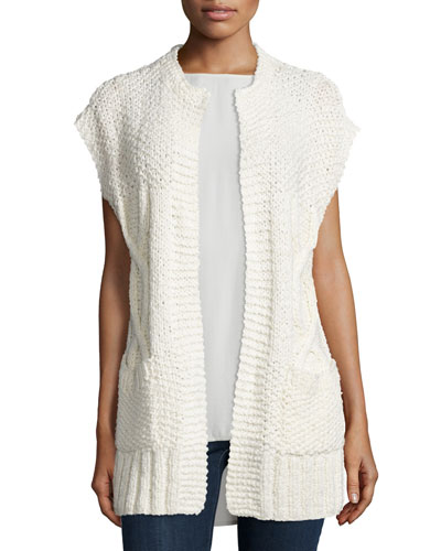 Fisher Project Long Textured Cardigan