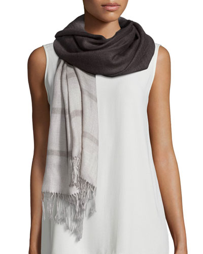 Ombre Striped Scarf, Mussel