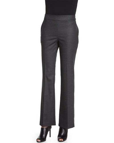 Stretch Twill Boot-Cut Trousers