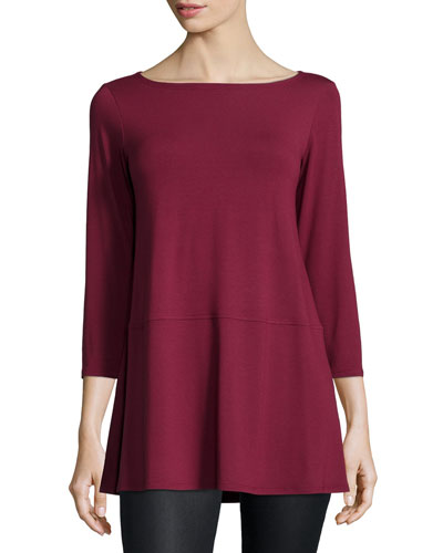 3/4-Sleeve Jersey Tunic, Women's